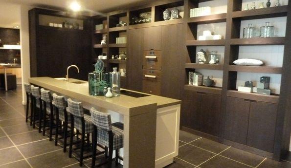 Showroomkeuken Sikkens / Eiche Coal geolt CVT keukens Breda