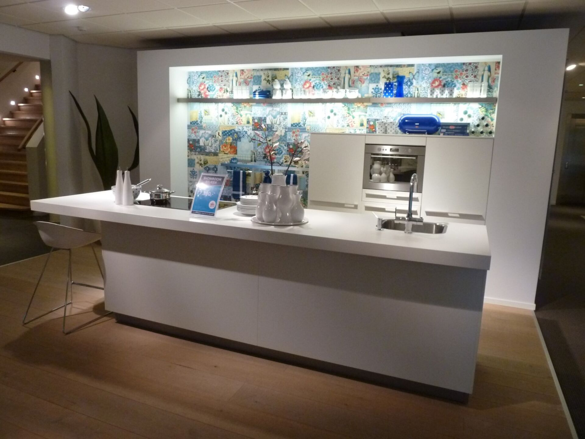 Showroomkeuken Wit CVT keukens Tilburg